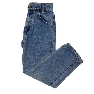 Levis 550 Regular Fit Denim Blue Jeans Orange Tab